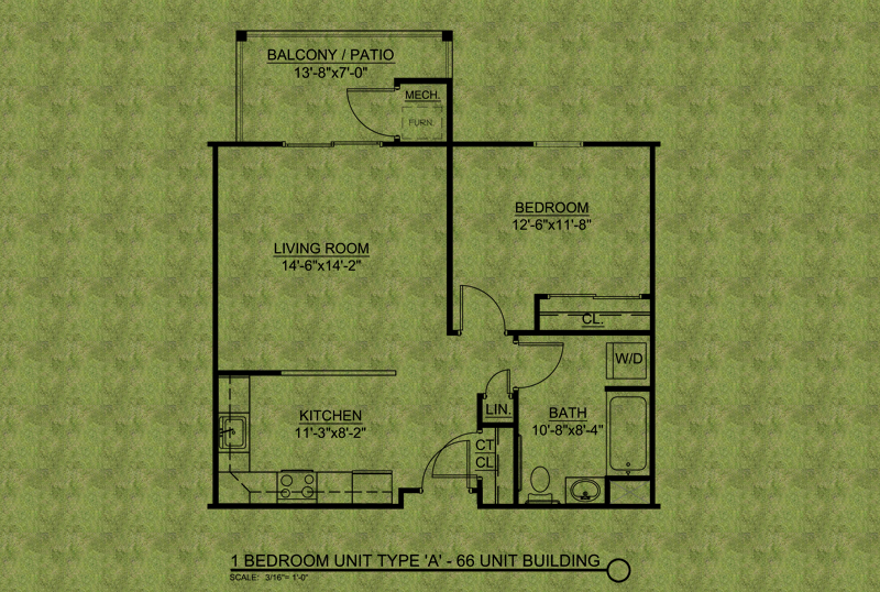 The Liberty Apartment floor plan